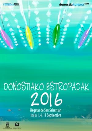 Poster - Donostiako Estropadak  2016
